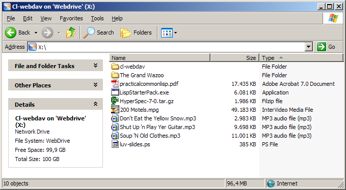 CL-WEBDAV - A WebDAV server written in Common Lisp